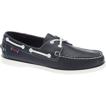 Chaussures bateau en cuir Sebago Docksides, navy
