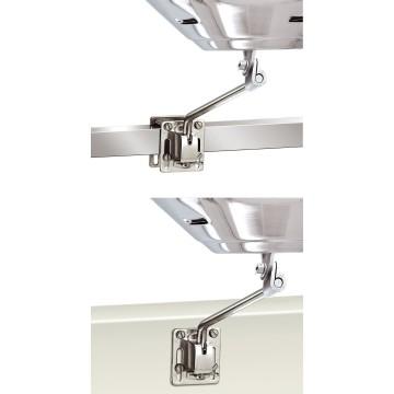 Fixation pour profil carré ou surface verticale
