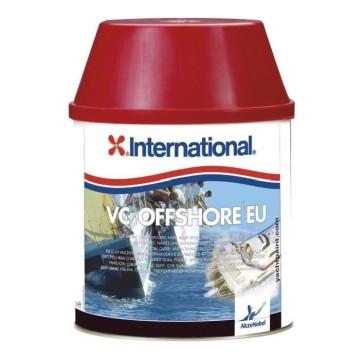Antifouling VC Offshore International 0.75L. Disponible en rouge, noir, bleu ou blanc