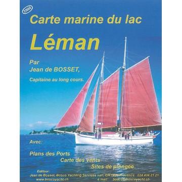 Carte marine du Lac Léman (Bosco)