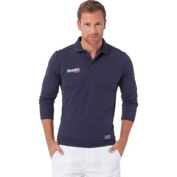 Polo Riva Tech Gaastra manches longues, Bleu marine