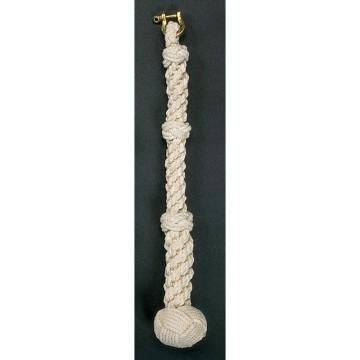 Corde de cloche en coton avec manille, tressée à la main