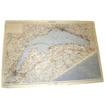 Carte des vents du Lac Léman de 1965