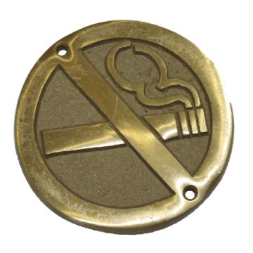 Plaque en laiton Interdiction de fumer