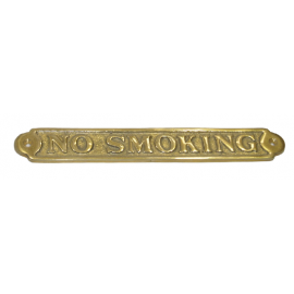 Plaque en laiton No Smoking