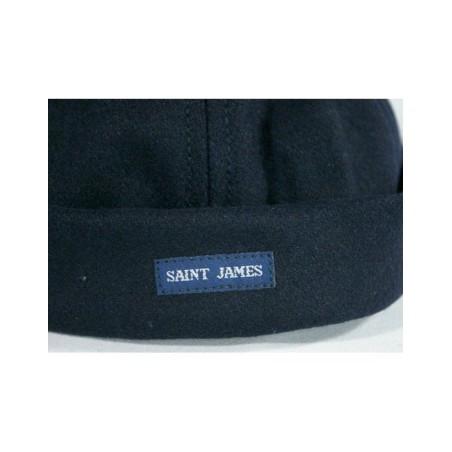 Bonnet Saint-James en laine Marin Miki navy, TU