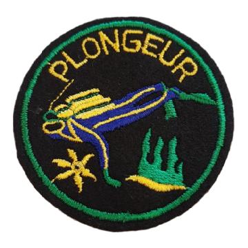 Ecusson brodé Plongeur ou Yacht Club (piece)