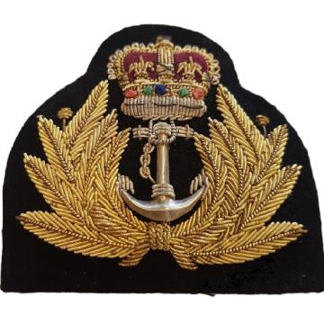 Ecusson Royal Navy broderie à la main