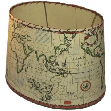 Abat-jour ovale Carte maritime