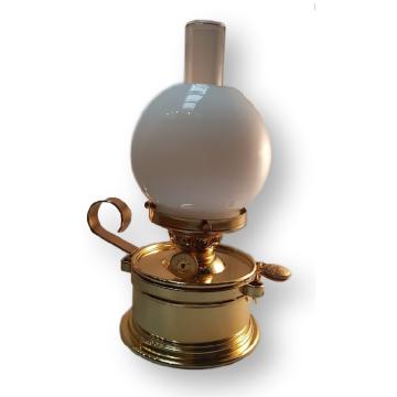 Lampe de table à pétrole, petite opaline