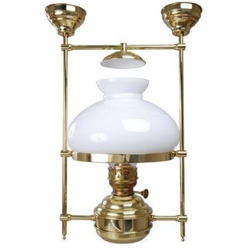Lampe abat-jour avec opaline, électrique