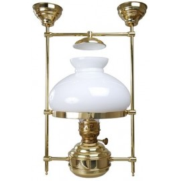 Lampe abat-jour opal. élec.fixé plafond 27x25cm