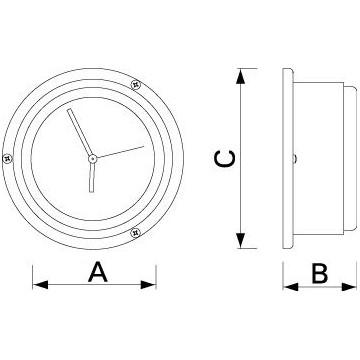 Baromètre Success Schatz, boitier ouvrable laiton chromé Ø115mm