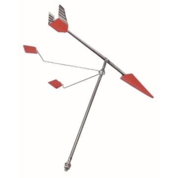 Girouette métal avec réflecteurs L400xH335