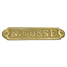 Plaque en laiton Mousse