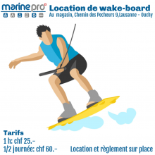LOCATION Wakeboard 1/2 journée (4h)
