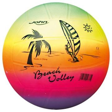 Ballon beach volley arc-en-ciel