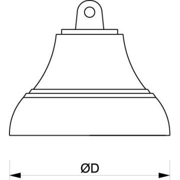 Cloche de bord en laiton poli, 19cm ou 10cm