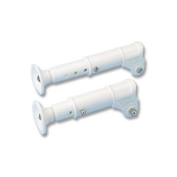 2x Appuis de rechange plastique pour échelle en aluminium