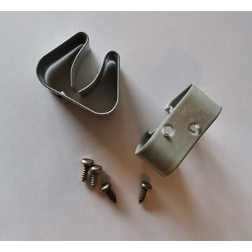 Clips de fixation en métal avec vis (paire)