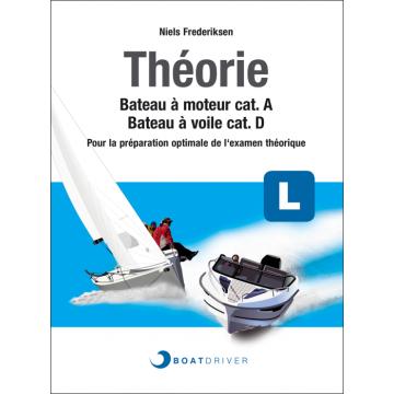 Livre Théorie cat.A/D pour examen voile & moteur BoatDriver (Version française)