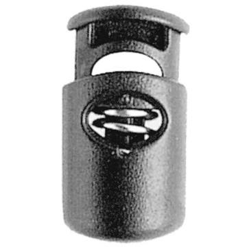 Clip de serrage nylon noir pour lacets