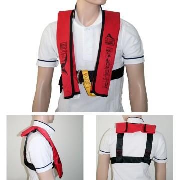 """Gilet gonflable enfants """"Alpha"""" Lalizas 120N automatique avec harnais, rouge CE ISO 12402-3"""