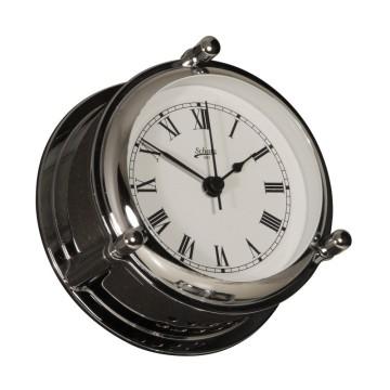 Horloge marine à quartz Schatz, boitier ouvrable laiton chromé