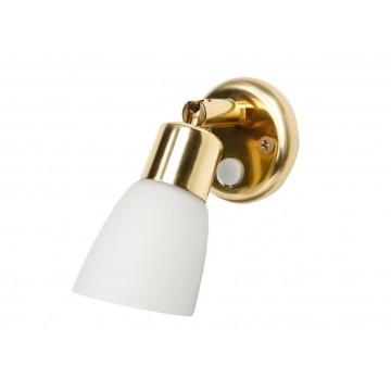 Lampe applique orientable opal doré 10W 12V