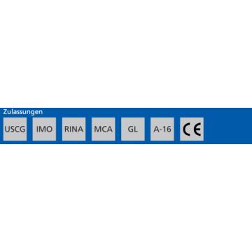 Feu tribord, boîtier noir, 112.5° 12V Aquasignal 25