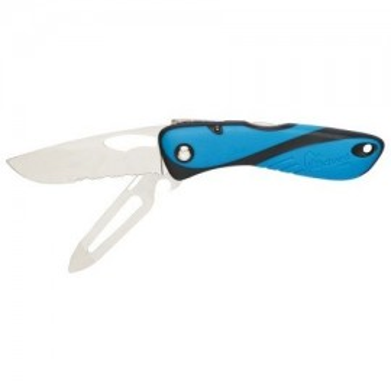 Couteau démanilleur + cran arrêt Wichard bleu