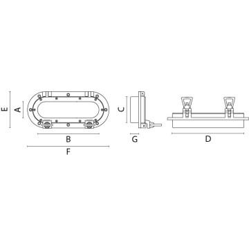 Hublot oval laiton chrome contre-plaque 11x24