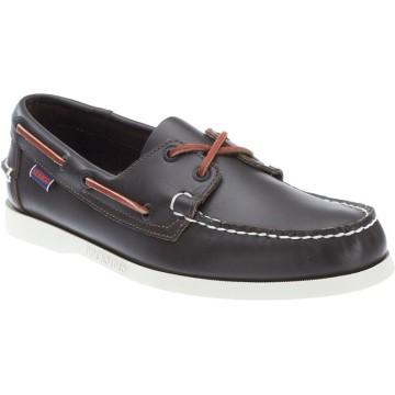 Chaussures bateau en cuir Sebago Docksides, marron