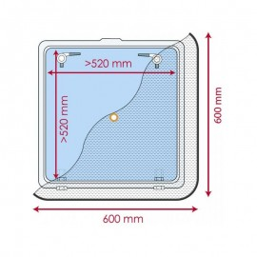 Moustiquaire pliable Waterline Design pour panneau de pont