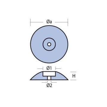 Anode de safran Magnesium ca.365g Ø90mm