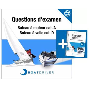 Licence 12 mois questions d'examen + Livre BoatDriver Swiss Français
