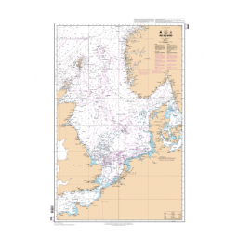 S.H.O.M. 6608 Carte marine Mer du Nord non pliée