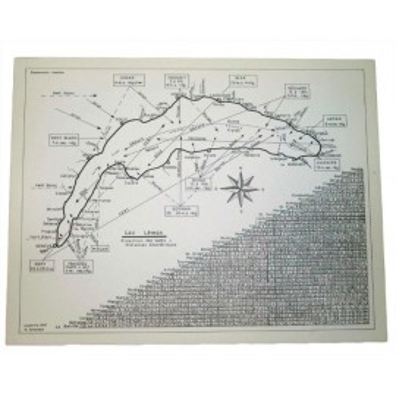 Carte des vents du lac Léman 1967