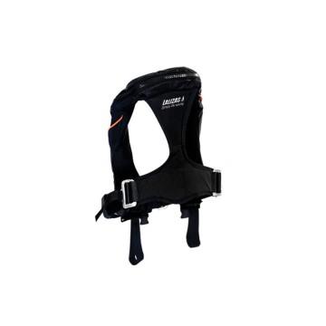 Gilet gonflable KAPPA Lalizas 180N automatique hammar avec harnais et 2 sous cutales, noir CE ISO 12402-3