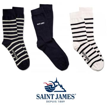 Chaussettes Saint James (unies ou rayées au choix)