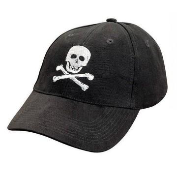Casquette en coton, brodée tête de mort Pirate, TU