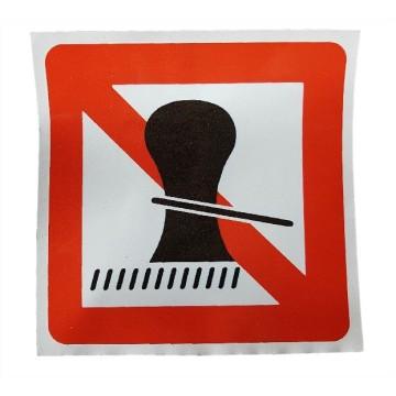 Autocollant amarrage interdit