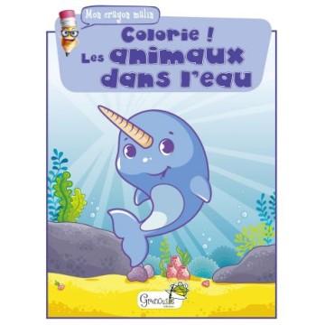 Mon crayon malin - colorie ! - les animaux dans l'eau