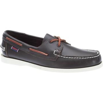 Chaussures bateau en cuir Sebago Docksides, Wine
