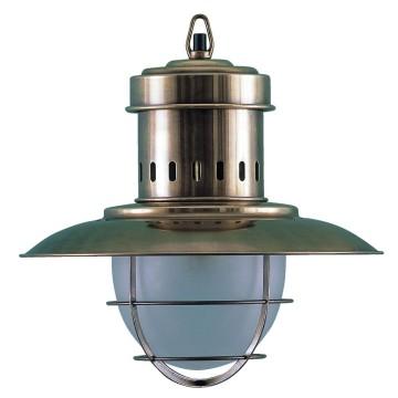 """Lampe à suspendre """"Fisherman's"""" en laiton, électrique"""