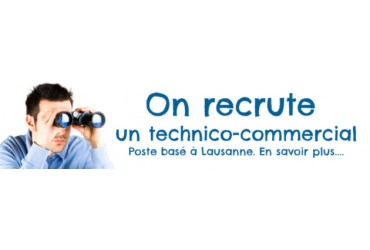 On recrute un technico-commercial