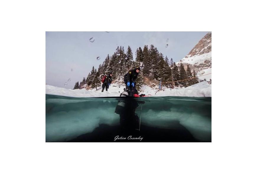 Plongée sous glace: Test client validé!