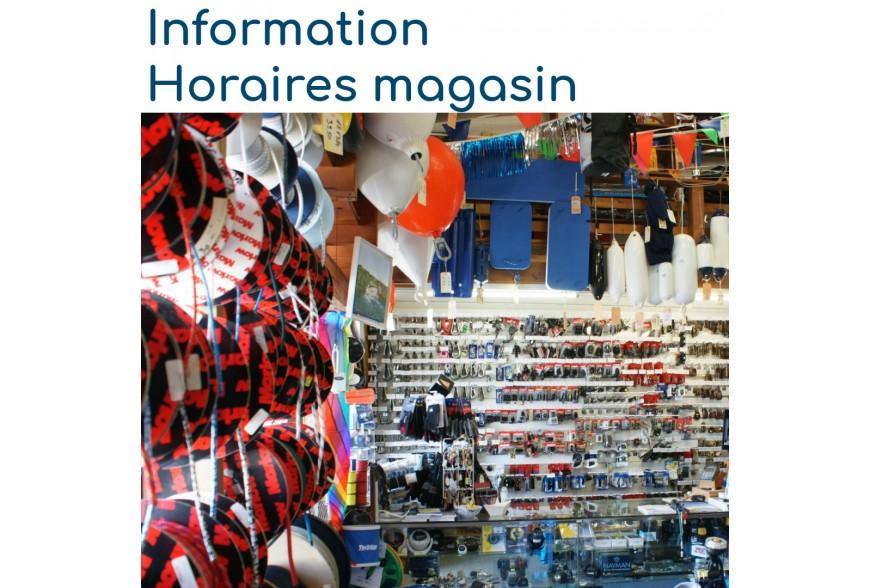 Information horaires magasin